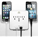Smartphone Charging Station With Usb Outlet Multiplier - Dual Surge Protector (2-Pack)