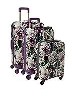 Roncato Set de 3 trolleys rígidos (Morado / Multicolor)
