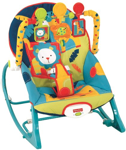 Best Review Of Fisher-Price Infant To Toddler Rocker, Dark Safari