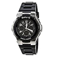 Casio Women's BGA110-1B2 Baby-G Shock Resistant Black Multi-Function Sport Watch