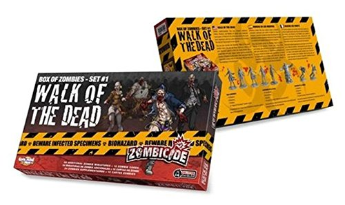 """Guillotine Games - Zombicide, Gioco da tavolo - Espansione n° 1 """"Walk of The Dead"""": Set di miniature di Zombie [importato da UK]"""