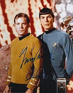 STAR TREK (William Shatner & Leonard Nimoy) signed 8x10 Photo