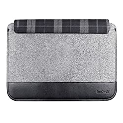 Inateck Ultra Slim 12 Inch Apple New MacBook Case Sleeve Ultrabook Netbook Cover Carrying Protector Case Bag, Gray