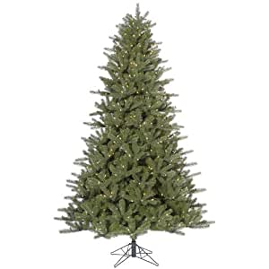 Amazon.com: 7.5' Pre-Lit Kennedy Fir Artificial Christmas ...