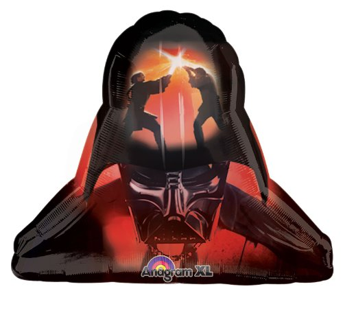 Darth Vader Shaped Jumbo Foil Balloon (Black/Orange) Party Accessory