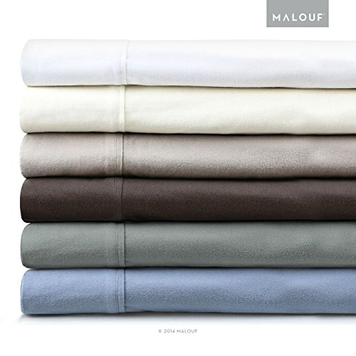 Malouf Fine Linens 190-Gram Velvet Flannel Deep Pocket Bed Sheet Set front-698116
