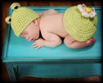 Handmade Baby Forg Hat Set PLUS A FREE GIFT CELL PHONE ANTI-DUST PLUG