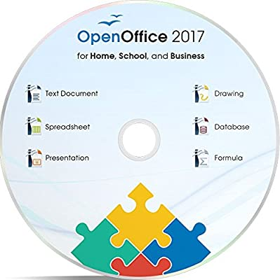 Office Suite 2017 Home Student and Business by Apache OpenOfficeTM for PC Microsoft Windows 10, 8.1 8 7 Vista XP 32 64bit| Alternative to Microsoft Office | Compatible with Word, Excel and PowerPoint