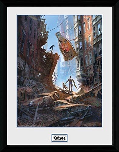 Fallout - 4, Street Scene Poster Da Collezione Incorniciato (40 x 30cm)