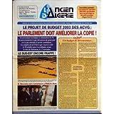ANCIEN ALGERIE (L') [No 410] du 01/10/2002 - SOUSCRIPTION NATIONALE - LANCEMENT DE L'OPERATION 2002 2003 QUI DONNERA...