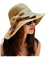 Culater® Jolie Bohemian Soleil d'été Disquette Chapeau de Paille Plage Grand Large Chapeau Brim