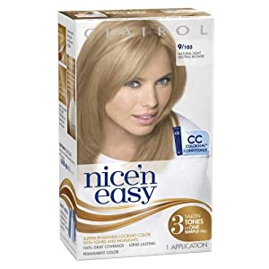 Clairol Nice 'N Easy Hair Color 103 Natural Light Neutral Blonde 1 Kit (Pack of 3)
