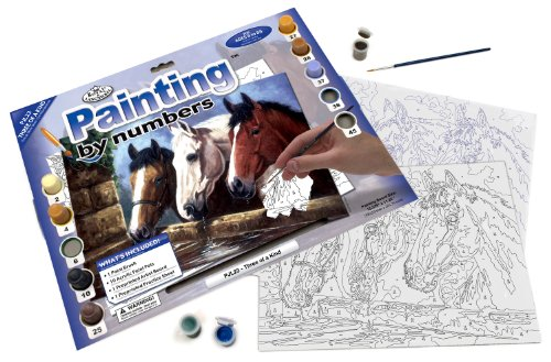 Royal & Langnickel Painting by Numbers Junior Large Art Activity Kit, Three of a Kind - 1