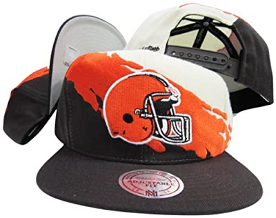 Cleveland Browns Snapback Adjustable Plastic Snap Mitchell & Ness Hat / Cap