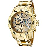 Invicta Men's 0074 Pro Diver Chronograph 18k Gold-Plated Stainless Steel Watch