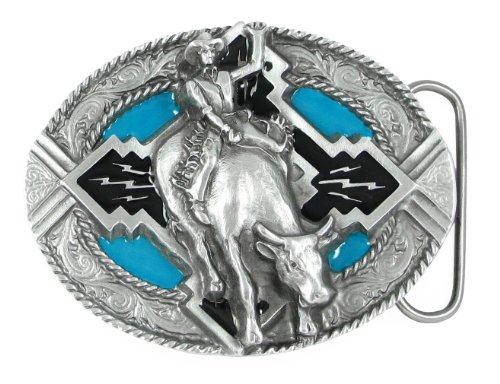 Belt Buckle - Bull Rider Rope Border