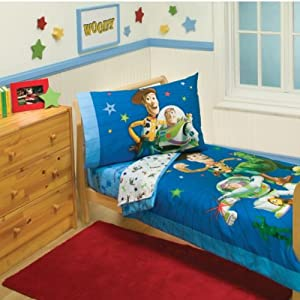 Story Bedroom  on Amazon Com  Disney Toy Story 4 Piece Toddler Bedding Set  Baby