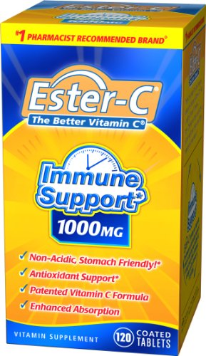 Ester-C The Better Vitamin C, 1000 mg, 120 Tablets (Pack of 2)