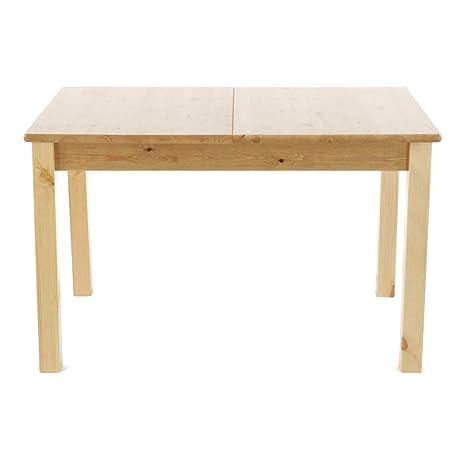 Table repas pin massif 120 x 80 cm avec allonge 40 cm Poisy-Table repas pin massif 120 x 80 cm avec allonge 40 cm Poisy
