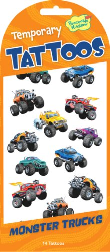 14 Monster Trucks Tattoo Sticker - Temporary Monster Trucks Tattoos