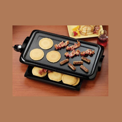 Non-Stick Griddle With Drawer-By Nostalgia front-242092