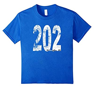 Vintage Washington DC Area Code 202 T-Shirt