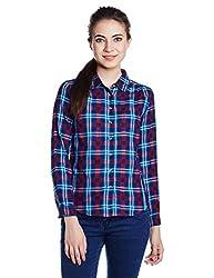 Wrangler Women's Button Down Shirt (WRSH5915_Red_S)