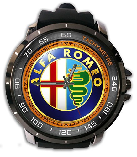 New Custom Printed Alpa Romeo Automobile Logo Watch Alloy Stainless-Steel With Rubber Band