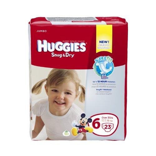 Huggies Snug and Dry Diapers, Size 6, Jumbo, 23 ct - 1