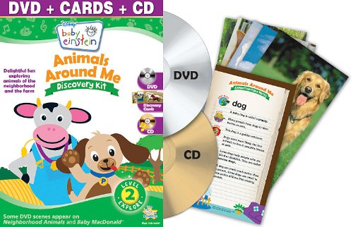 Baby Einstein: Animals Around Me Discovery Kit ( Dvd + Cd And Discovery Cards) front-217682