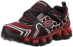 Skechers Boyss Flashpod Black and Red Sneakers - 1 UK/India (33.5 EU) (2 US)