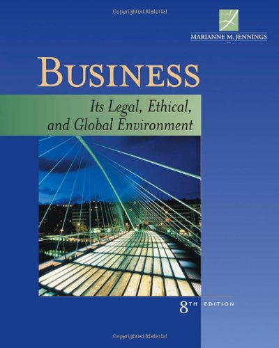 Business: Its Legal, Ethical, And Global Environment front-779487