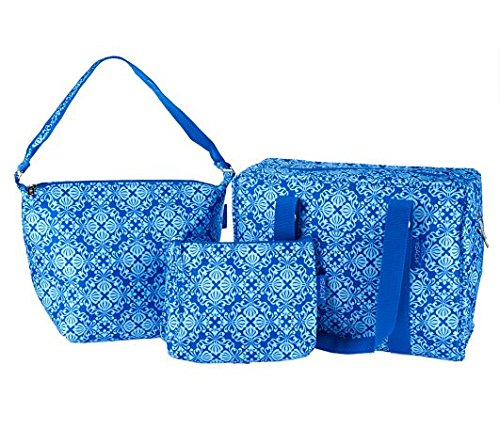 Sachi Set of 3 Multi-Shaped Bags (Blue) - 1