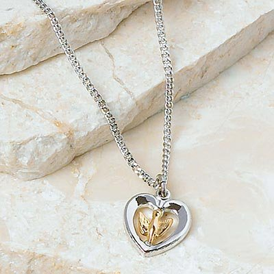 Heart and Dove Necklace