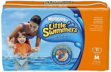 Image result for Huggies Little Swimmers Disposable Swim Diapers Medium Pk of 11 diapers