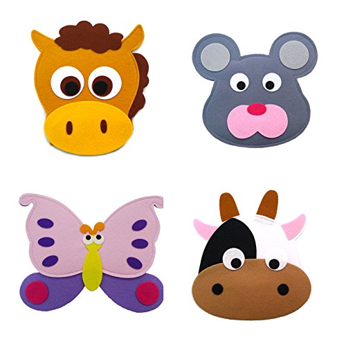 Animal Headband masks horse+mouse+butterfly+cow