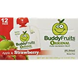 Buddy Fruits Strawberry Fruit Snack Squeeze Pouches 12ct
