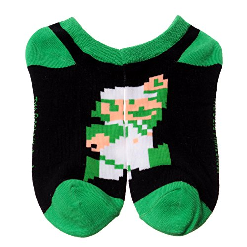 Super Mario Bros. Pixelated Luigi Ankle Socks