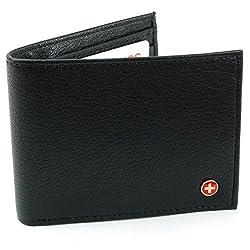 Alpine Swiss Mens Leather Flipout ID Wallet Bifold Trifold Hybrid from alpine swiss