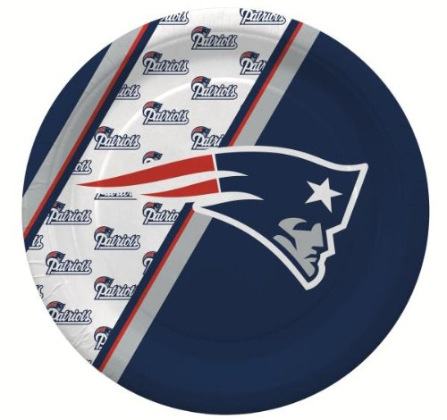 NFL New England Patriots Disposable Paper Plate (20-Pack)