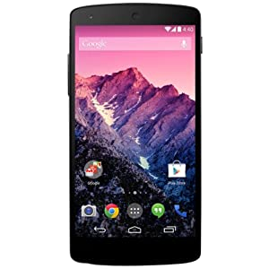 Google Nexus 5 Smartphone (12,6 cm (4,9 Zoll) Full HD-IPS-Display, 2,26GHz Snapdragon 800 Prozessor, 16GB interner Speicher, 8 Megapixel Kamera, Android 4.4) schwarz