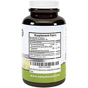 Pure 95% HCA Garcinia Cambogia Extract for Women and Men - Natural, Pure and Potent- Best Weight Loss Supplement on the Market - Full Time Energy - USA Made By Nature Bound