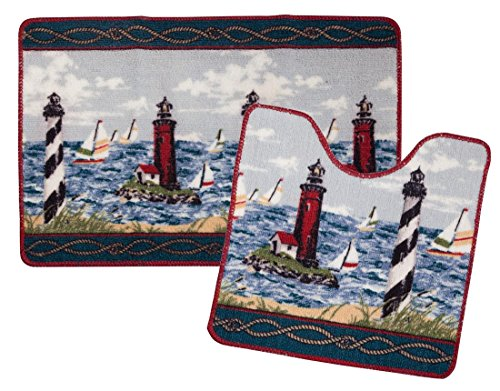 Lighthouse Nautical Bathroom Accessories: Lighthouse Nautical Bath Decor
