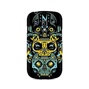 Motivatebox- Three Skulls Premium Printed Case For Samsung S3 Mini 8190 -Matte Polycarbonate 3D Hard case Mobile Cell Phone Protective BACK CASE COVER. Hard Shockproof Scratch-