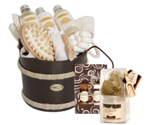 Wooden Pail Spa Pampering Toiletries Gift Set - Cocos Vanilla Dreams