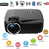 Android WiFi LED Projector,Portable Multimedia 1200 Lumens Home Theater Cinema PS Xbox Game Mini Wireless WIFI Projector Support Full HD 1080p Video with USB HDMI AV SD VGA TV(3D 4K HDMI Cable Inside)