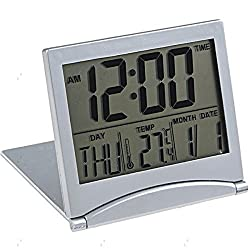MT-033 Digital Desk Clock with Calendar & Alarm & Day & Temperature for Home Office Decoration