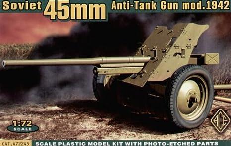 Maquette Canon anti-chars soviétique 45mm modèle 1942, 2ème GM