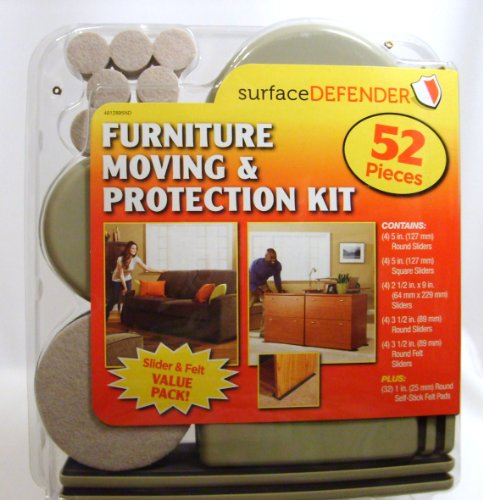 Furniture Moving And Protection Kit With Sliders And Felt 52 Pc Value Pack By Surface Defender