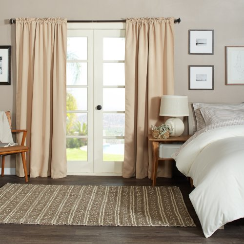 Pinzon Blackout Curtains, 56 By 84-Inch, Khaki, Set Of 2